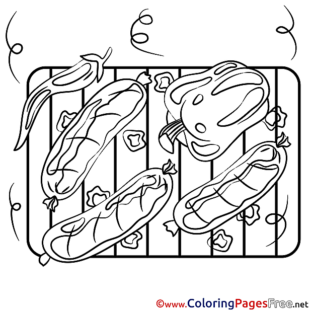 Hot Dogs download Colouring Page
