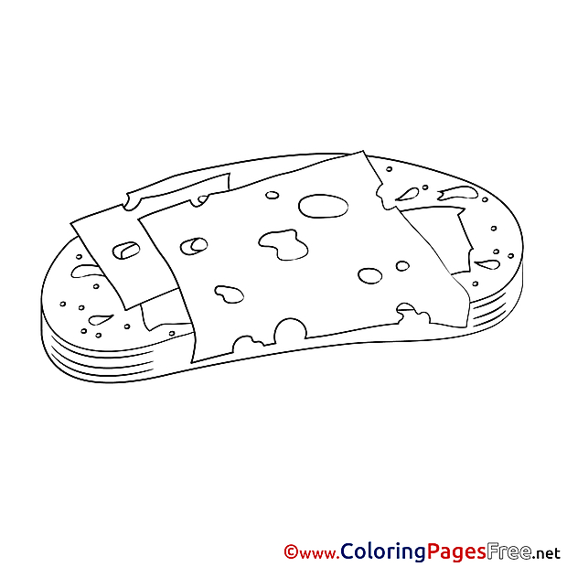 Meal download Colouring Sheet free