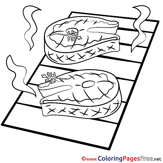 Meat Children Coloring Pages free