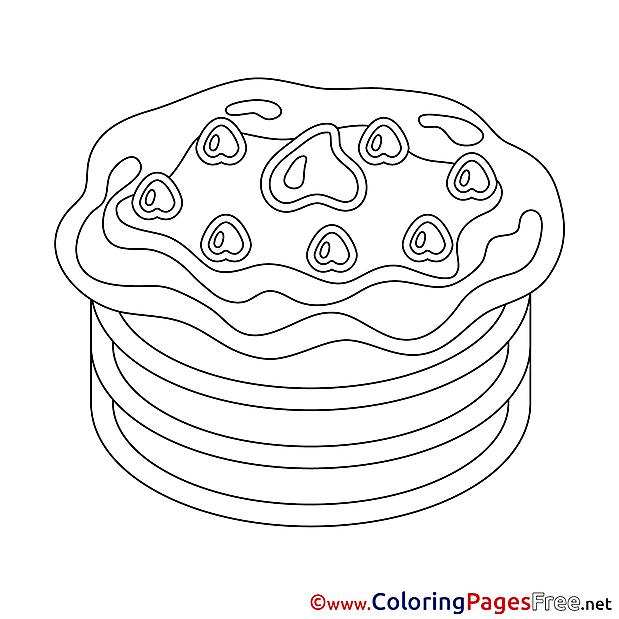 Pancake free Happy Birthday Coloring Sheets
