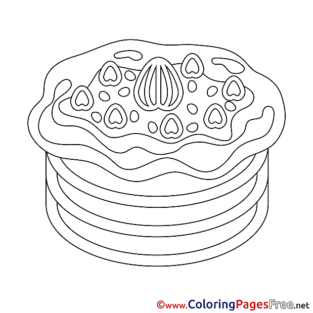 Pancake printable Coloring Pages Happy Birthday