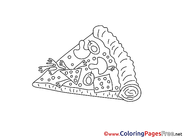 Pizza Coloring Pages for free