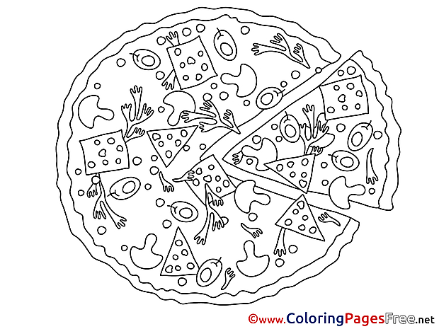 Pizza printable Coloring Pages for free