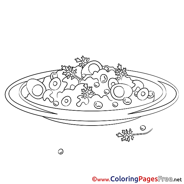 Salad for free Coloring Pages download