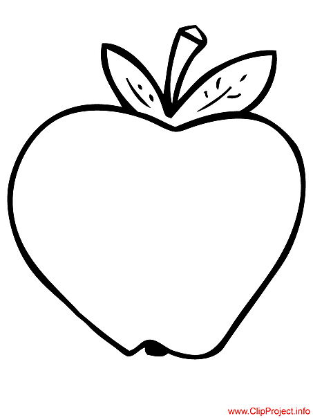 Apple coloring sheet for free