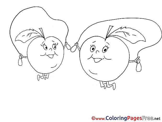 Apples download Colouring Sheet free