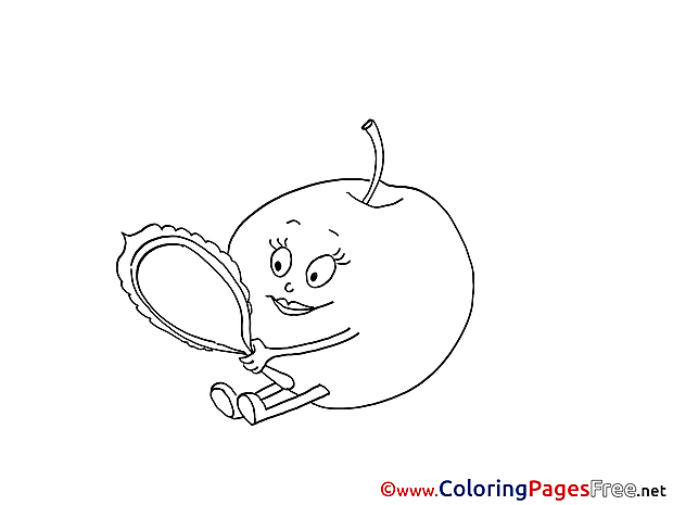Download printable Mirror Orange Coloring Pages
