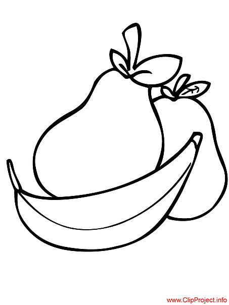 Fruits coloring sheets for free