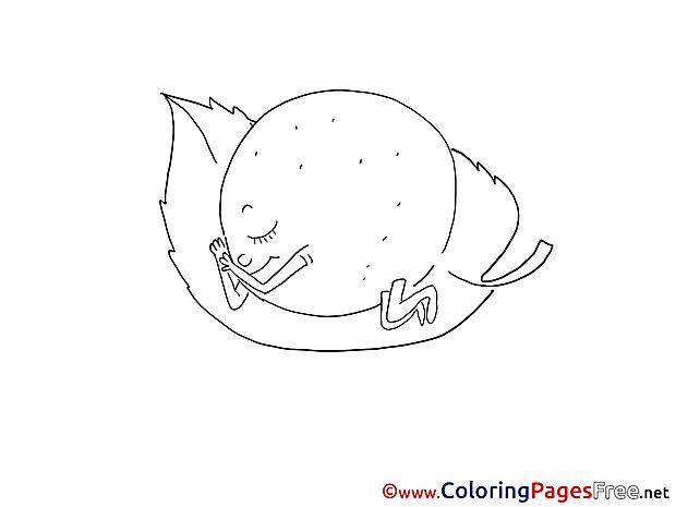 Lemon Children Coloring Pages free