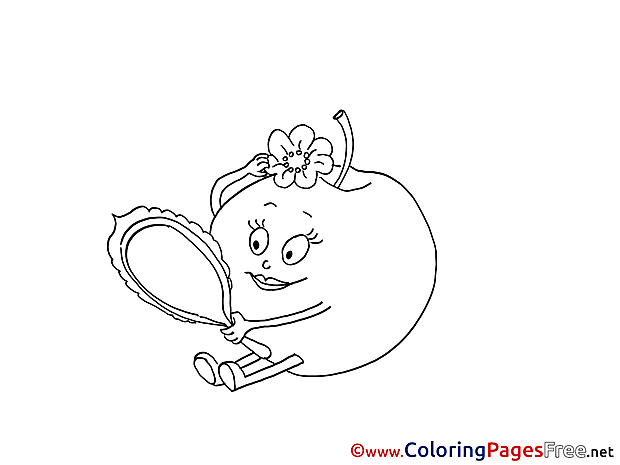 Mirror Coloring Pages For Kids