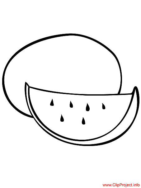 Water-melon image to coloring for free