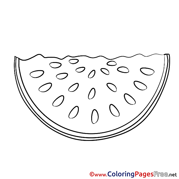 Watermelon free Colouring Page download