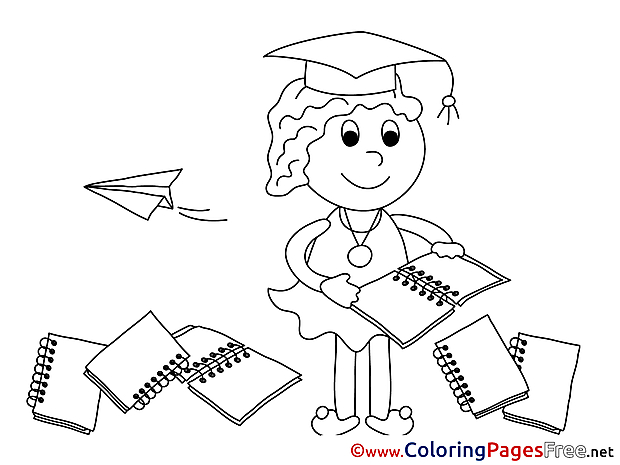 Classroom for Kids Graduation Colouring Page