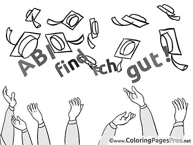 Diplomas Graduation free Coloring Pages