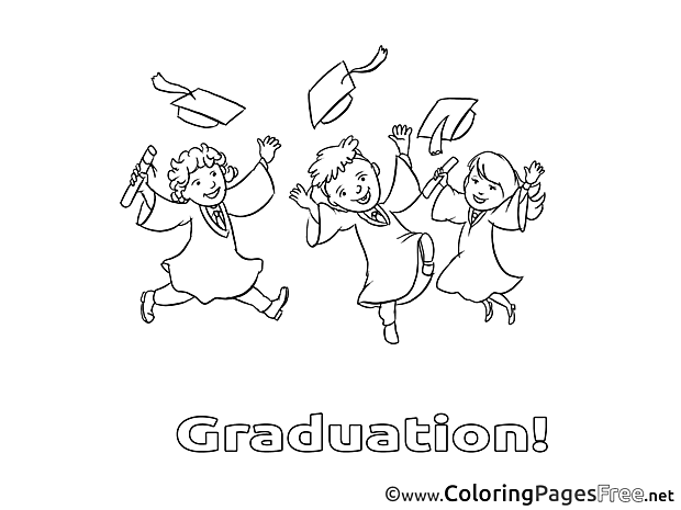 Free Graduation Students  Coloring Sheets