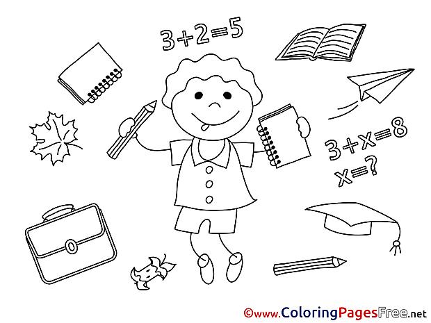 Little Boy printable Graduation Coloring Sheets