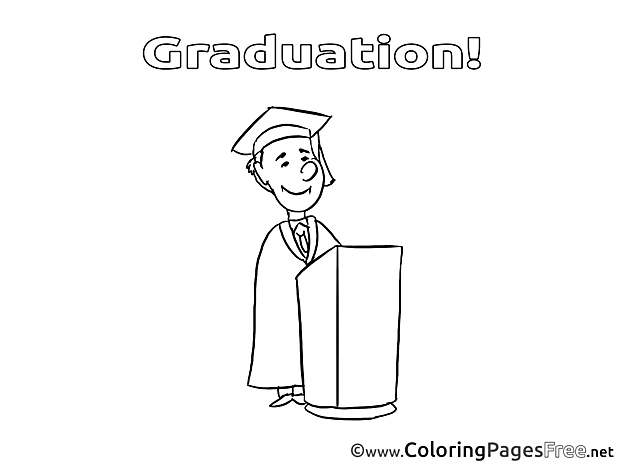 Professor Graduation Coloring Pages free
