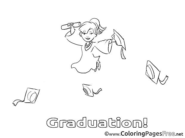 School printable Graduation Coloring Sheets