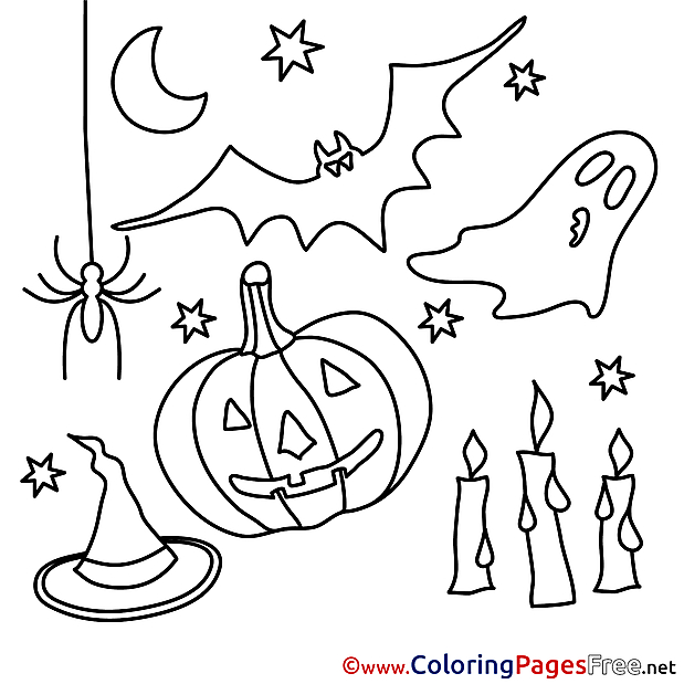 Decoration Halloween Coloring Pages download