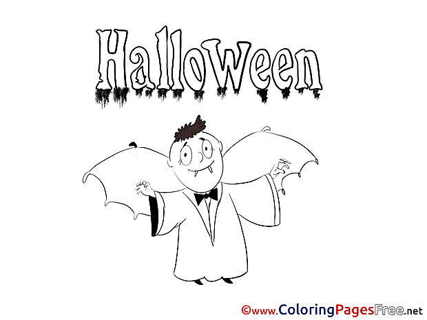 Dracula printable Coloring Pages Halloween