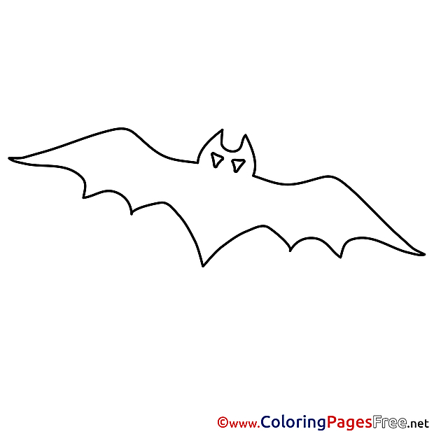 Free Halloween Coloring Sheets Bat
