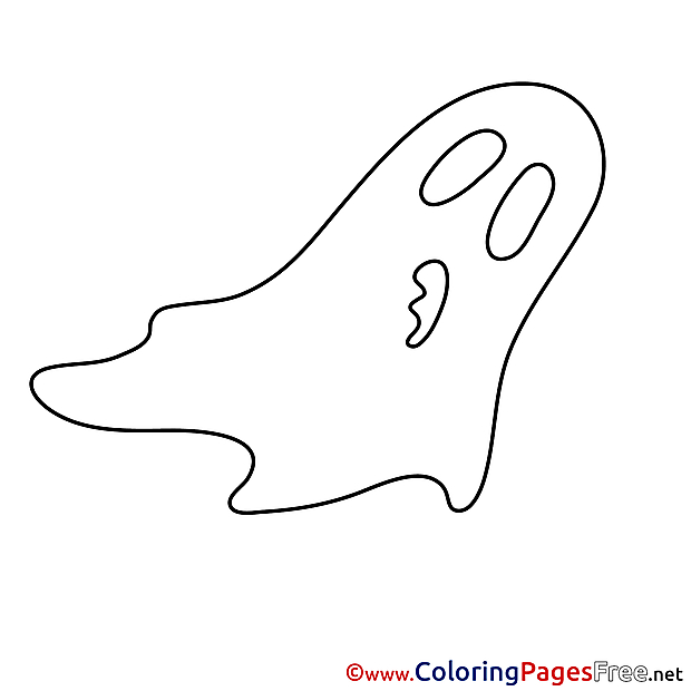 Ghost Children Halloween Colouring Page