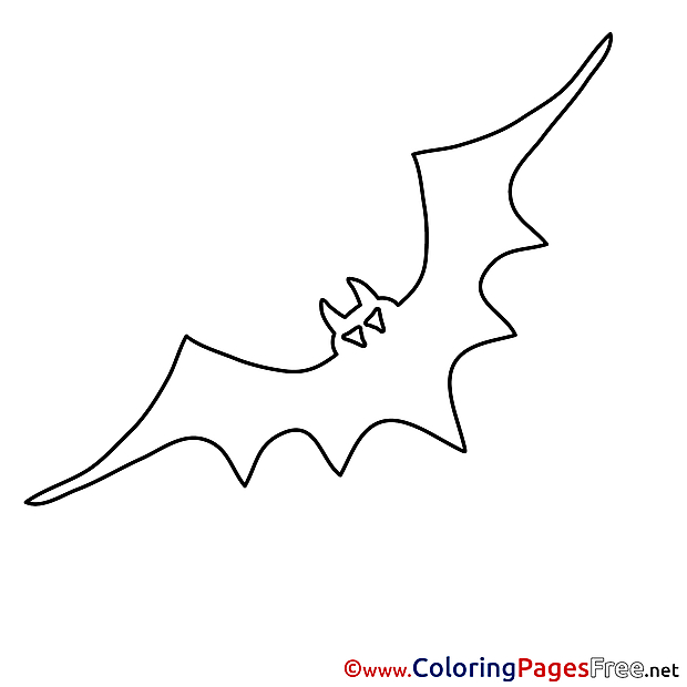 Halloween Colouring Sheet Bat free