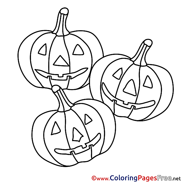 Halloween Pumpkins free Coloring Pages