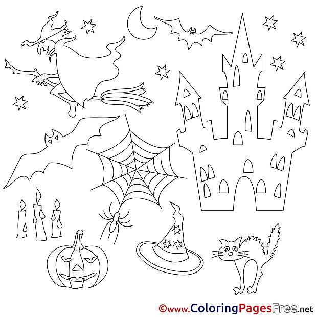 Holiday Coloring Sheets Halloween free