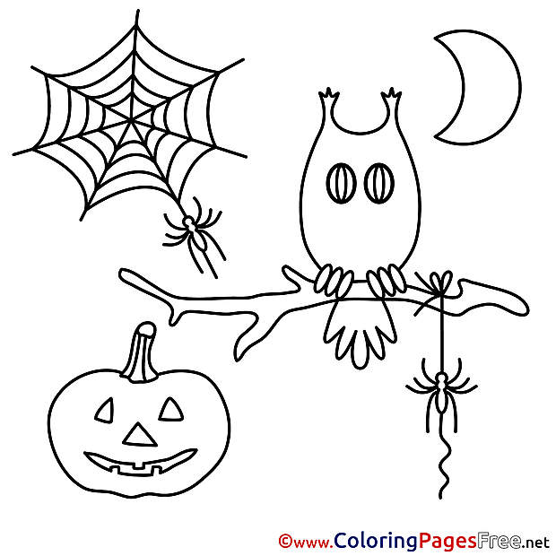 Illustration download Halloween Coloring Pages