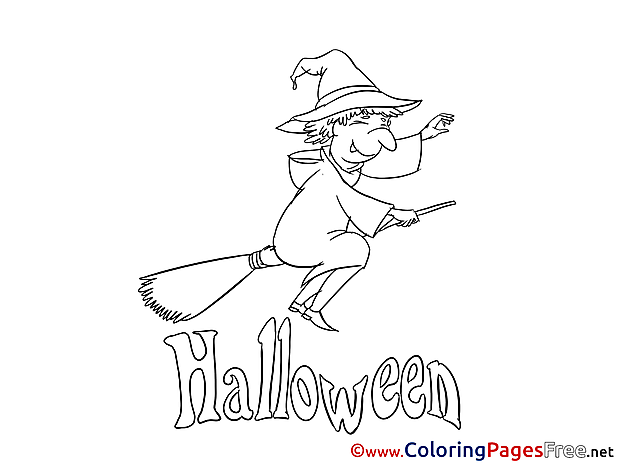 Kids Halloween Coloring Pages Witch