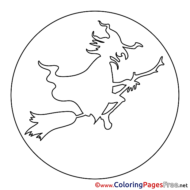 Old Sorceress Halloween Coloring Pages free