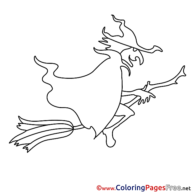 Old Witch Coloring Pages Halloween