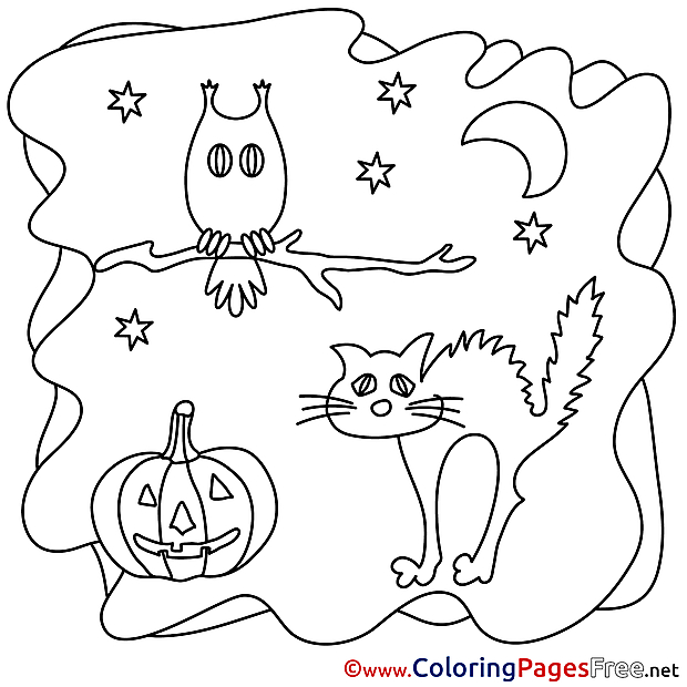 Owl download Halloween Coloring Pages