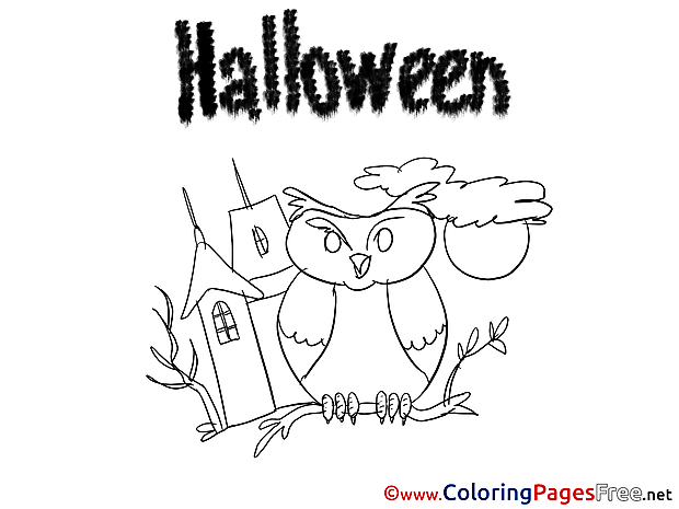 Owl House Halloween Colouring Sheet free