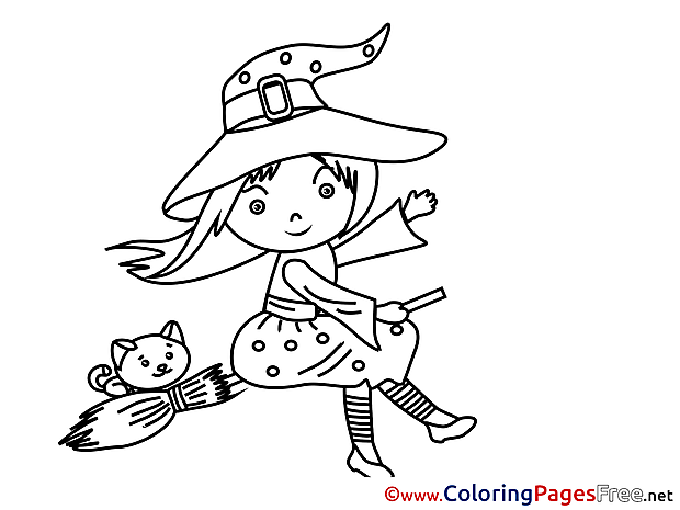 Printable Halloween Witch Coloring Sheets
