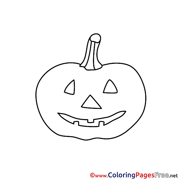 Printable Pumpkin Halloween Coloring Sheets