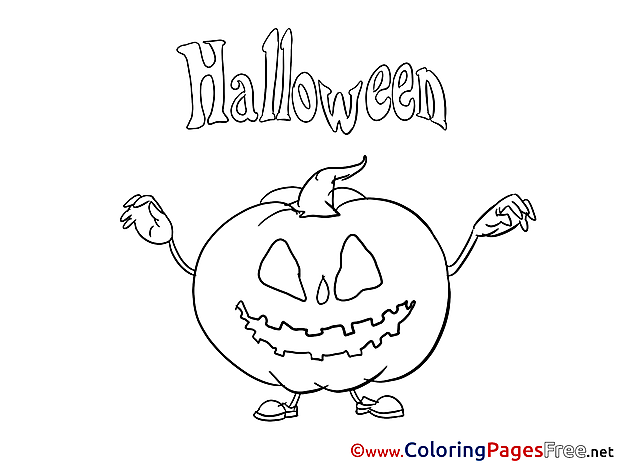 Pumpkin for Kids Halloween Colouring Page