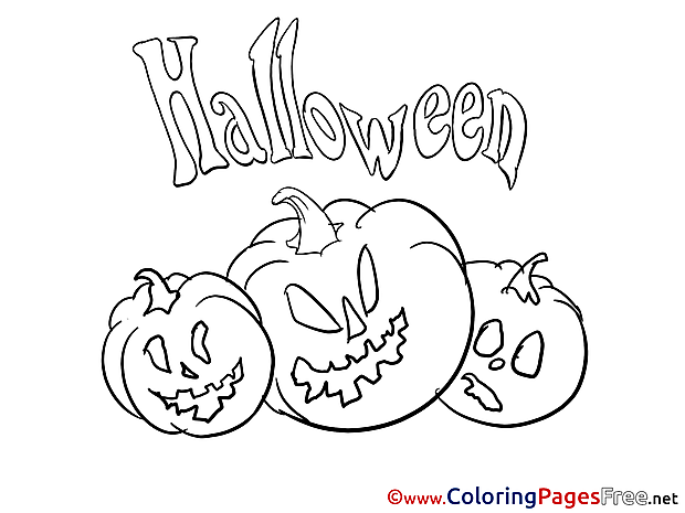 Pumpkins Halloween free Coloring Pages