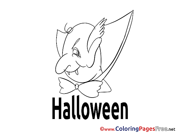 Vampire download Halloween Coloring Pages
