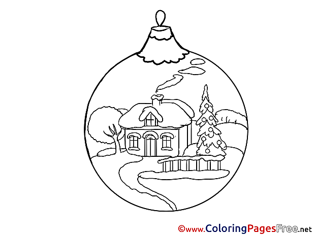 Ball Kids New Year House Coloring Page