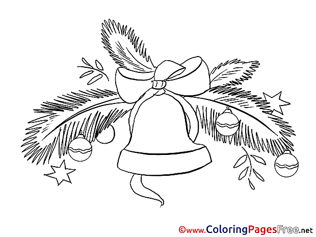 Bell Coloring Sheets New Year free