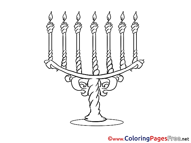 Candle Holder download New Year Coloring Pages