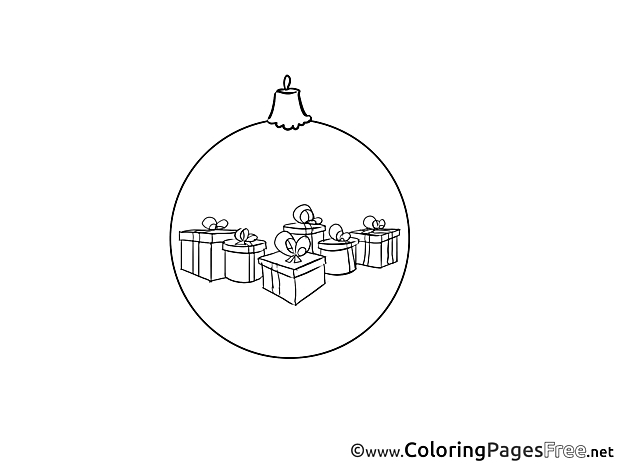 Christmas Toy Colouring Sheet download New Year