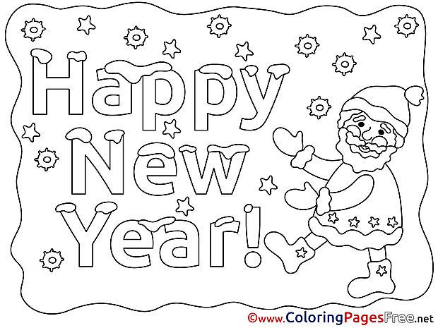 Download New Year Eve Coloring Pages