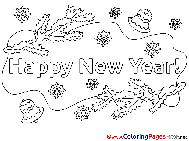 Eve free New Year Coloring Sheets