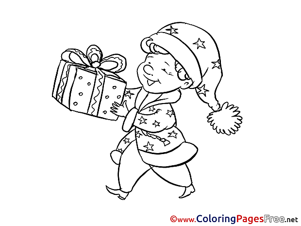 Present printable Coloring Pages New Year