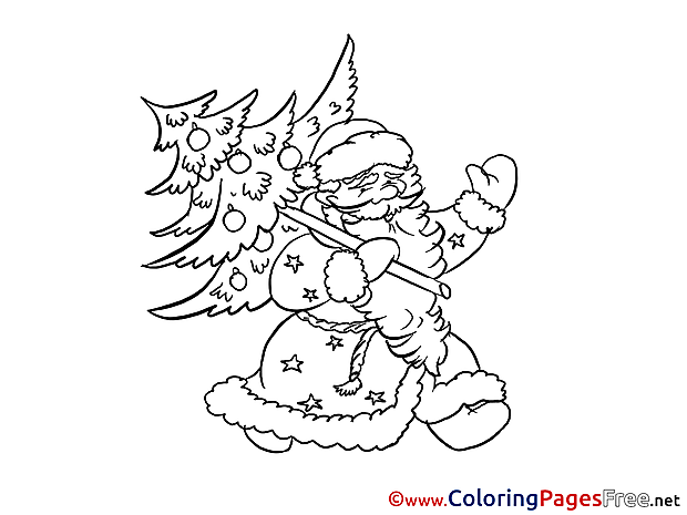 Santa Claus Coloring Pages New Year