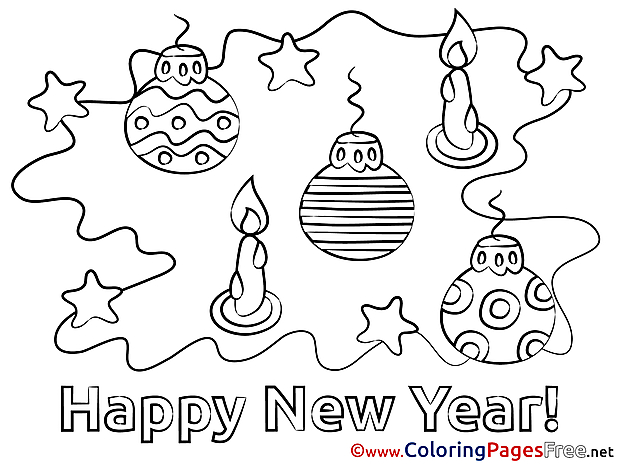 Toys New Year Coloring Pages free