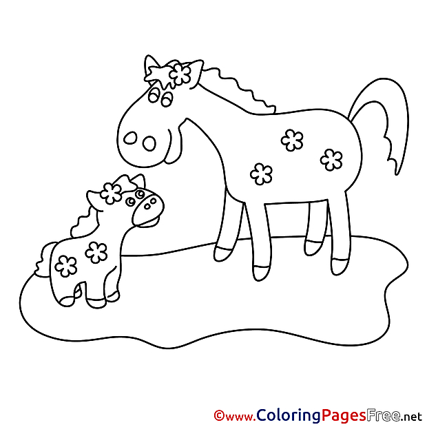 Mare Foar for free Coloring Pages download